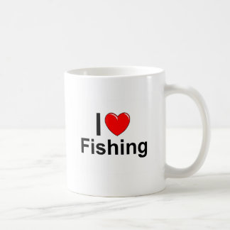 I Love Heart Fishing Coffee Mug