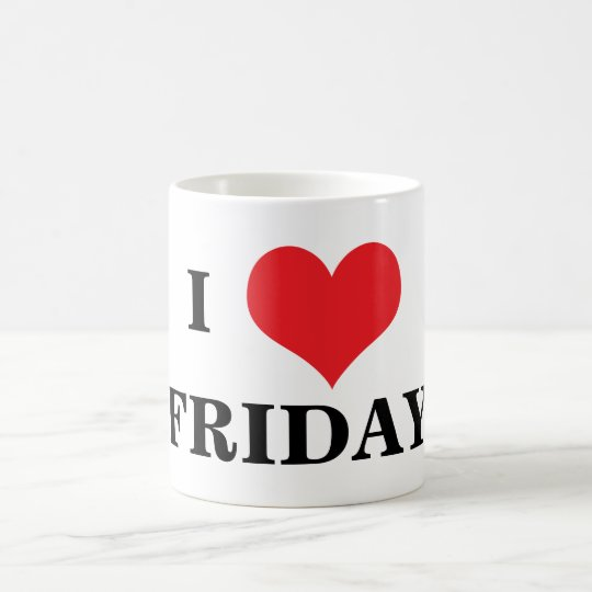 I love heart Friday coffe mug, gift idea Coffee Mug