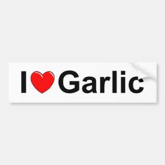 I Love (Heart) Garlic Bumper Sticker