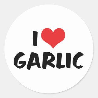 I Love Heart Garlic - Stinking Rose Lover Classic Round Sticker