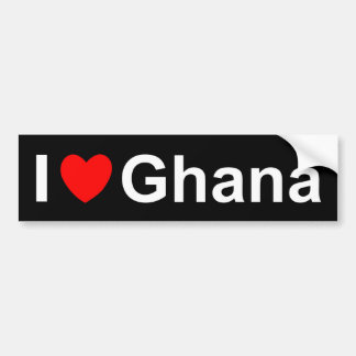I Love Heart Ghana Bumper Sticker
