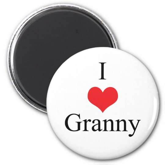 I Love (Heart) Granny Magnet
