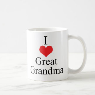 I Love (Heart) Great Grandma Mug