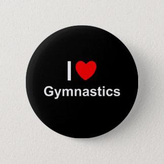 I Love Heart Gymnastics 6 Cm Round Badge