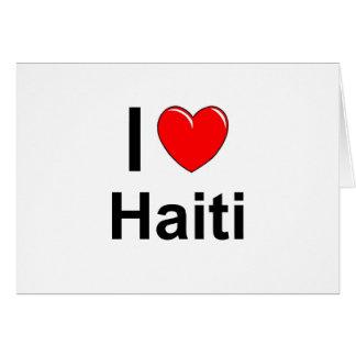 I Love Heart Haiti Card