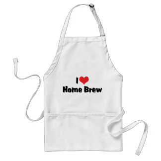 I Love Heart Home Brew - Beer Lover Standard Apron