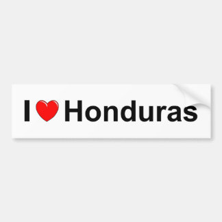 I Love Heart Honduras Bumper Sticker