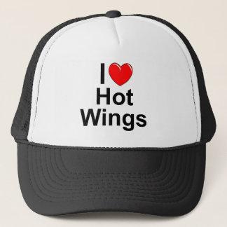 I Love (Heart) Hot Wings Trucker Hat