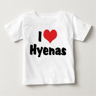 I Love Heart Hyenas Baby T-Shirt