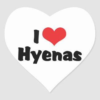 I Love Heart Hyenas Heart Sticker