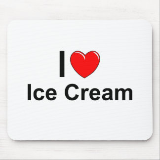 I Love Heart Ice Cream Mouse Pad