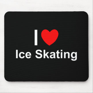 I Love Heart Ice Skating Mouse Pad