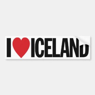 "I Love Heart Iceland 11"" 28cm Vinyl Decal"