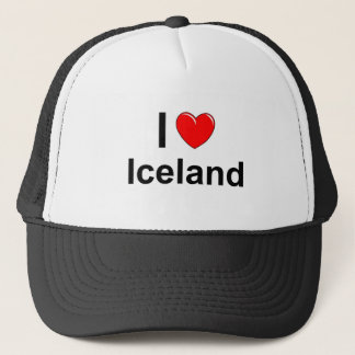 I Love Heart Iceland Trucker Hat