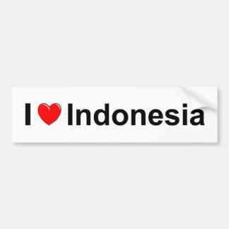 I Love Heart Indonesia Bumper Sticker