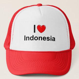 I Love Heart Indonesia Trucker Hat