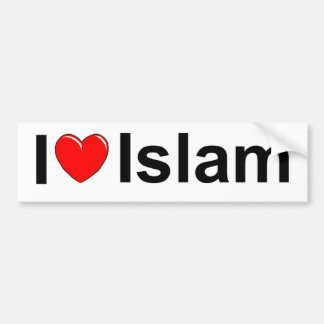 I Love (Heart) Islam Bumper Sticker