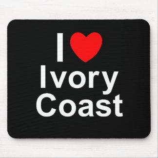 I Love Heart Ivory Coast Mouse Pad