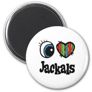 I Love (Heart) Jackals Magnet