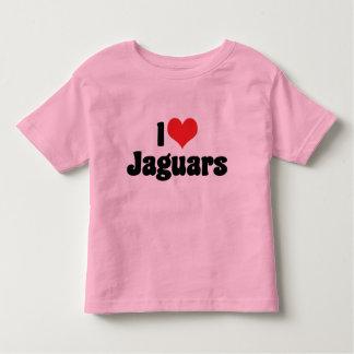 I Love Heart Jaguars Toddler T-Shirt
