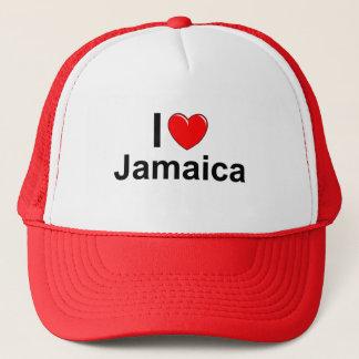 I Love Heart Jamaica Trucker Hat