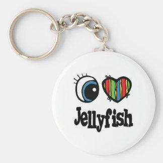 I Love (Heart) Jellyfish Keychains