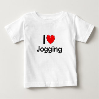 I Love Heart Jogging Baby T-Shirt