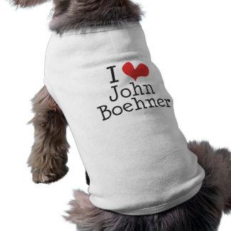 I Love (heart) John Boehner Pet T-shirt