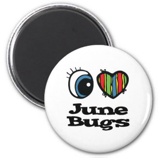 I Love (Heart) June bugs Magnet