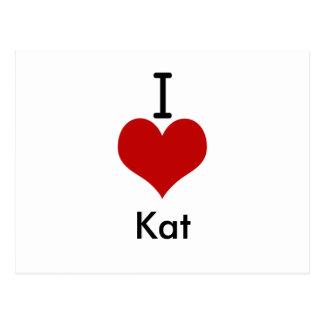 I Love (heart) Kat Postcard