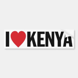 "I Love Heart Kenya 11"" 28cm Vinyl Decal Bumper Sticker"