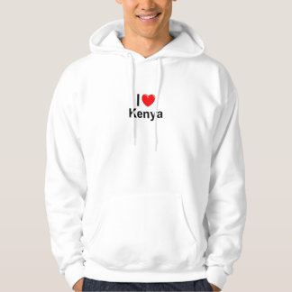 I Love Heart Kenya Hoodie