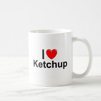I Love Heart Ketchup Coffee Mug