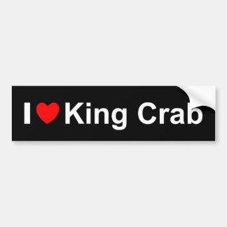 I Love Heart King Crab Bumper Sticker