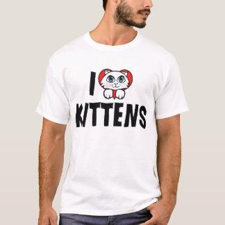I Love Heart Kittens - Cat Lover T-Shirt