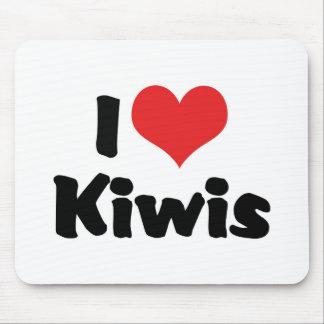 I Love Heart Kiwis - Kiwi Bird Lover Mouse Pad
