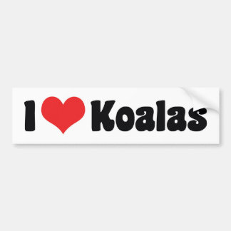 I Love Heart Koalas - Koala Bear Lovers Bumper Sticker