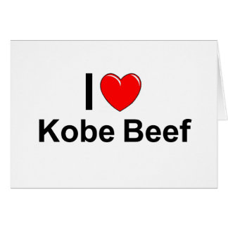 I Love Heart Kobe Beef Card