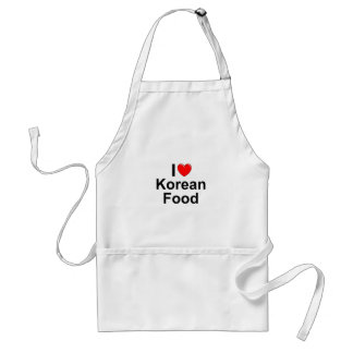 I Love(Heart) Korean Food Standard Apron