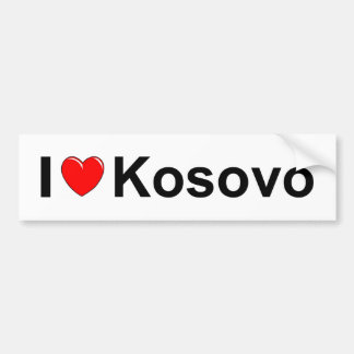 I Love Heart Kosovo Bumper Sticker