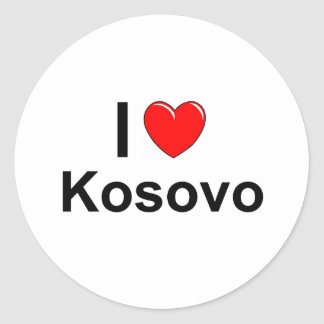 I Love Heart Kosovo Classic Round Sticker