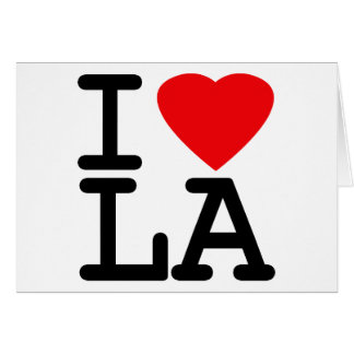 I Love Heart LA Greeting Card