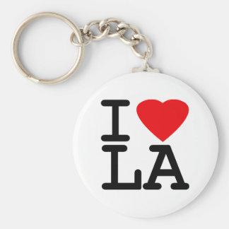 I Love Heart LA Key Chain