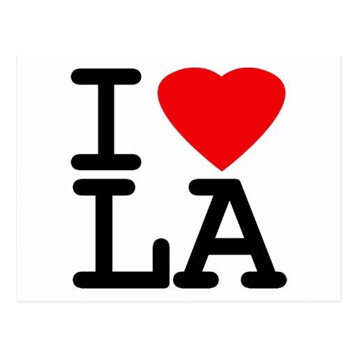 I Love Heart LA Post Card