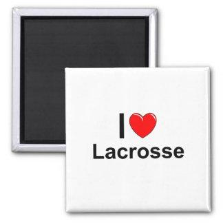 I Love Heart Lacrosse Magnet
