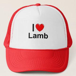 I Love Heart Lamb Trucker Hat