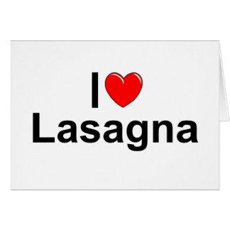 I Love (Heart) Lasagna Card