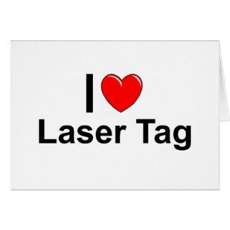 I Love Heart Laser Tag Card