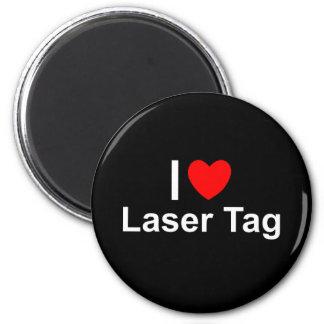 I Love Heart Laser Tag Magnet