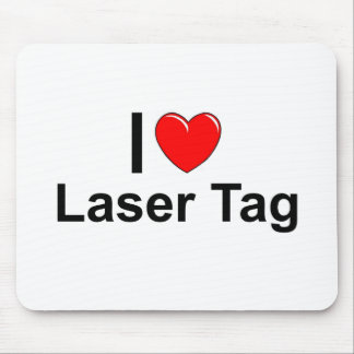 I Love Heart Laser Tag Mouse Pad